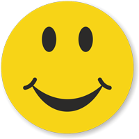 Smiley Symbol Hard Hat Decals