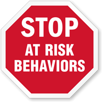Stop At Risk Behaviors Hard Hat Decals