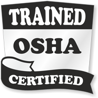 Trained OSHA Certified Hard Hat Decals