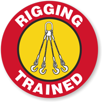 Trained Rigging Hard Hat Decals