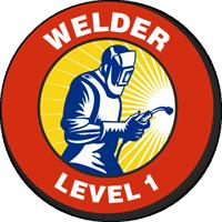 Welder Level 1 Hard Hat Decals