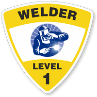 Welder Level 1 Hard Hat Decals