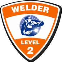 Welder Level 2 Hard Hat Decals