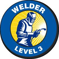 Welder Level 3 Hard Hat Decals
