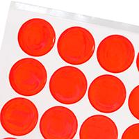 Fluorescent Orange Reflective Stickers