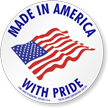 Made In America Flag Label