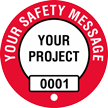 Add Safety Message Project Custom Hard Hat Decal