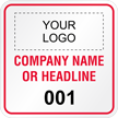 Add Your Logo Company Name Custom Hard Hat Decal