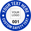 Add Your Safety Text Here Custom Hard Hat Decal