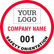 Safety Orientation Add Company Custom Hard Hat Decal