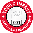 Safety Rule Orientation Custom Hard Hat Decal