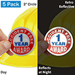 1 Year Accident Free Award Hard Hat Label