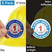 1 Year Safety Award Hard Hat Label