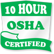 10 Hour OSHA Certified Hard Hat Decals