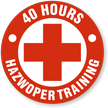 40 Hour Hazwoper Training Hard Hat Decals