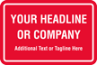Add Headline Or Company Name Custom Hard Hat Decal