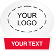Add Your Logo With Text Custom Hard Hat Decal