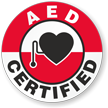 AED CERTIFIED Hard HAT DECAL