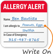Allergy Alert Write-On Hard Hat Decals