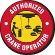 Authorized Crane Operator Hard Hat Decals