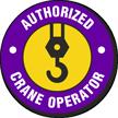 Authorized Crane Operators Hard Hat Decals