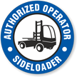 Sideloader Authorized Operator Hard Hat Decals