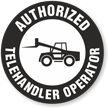 Authorized Telehandler Operator Hard Hat Decals