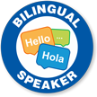 Bilingual Speaker Hard Hat Decals