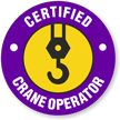 Certified Crane Operator Hard Hat Decals