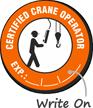 Certified Crane Operator Hard Hat Decals