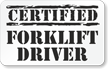Certified Forklift Driver Hard Hat Decals