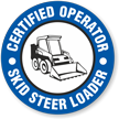 Certified Operator Skid Steer Loader Hard Hat Decals