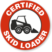 Certified Skid Loader Hard Hat Decals