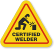 Certified Welder Hard Hat Decals