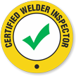 Certified Welder Inspector Hard Hat Decals