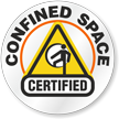 Confined Space Certified Hard Hat Decals