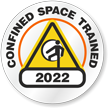 Confined Space Trained Choose Year Hard Hat Decals
