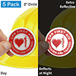 CPR First Aid - Certified And Trained Hard Hat Label