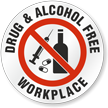 Drug And Alcohol Free Workplace Hard Hat Decals