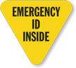 Emergency ID Inside Hard Hat Decals