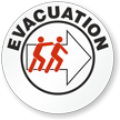 Evacuation Hard Hat Stickers