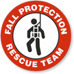 Fall Protection Rescue Team Hard Hat Decals