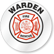 Fire Rescue Warden Hard Hat Decals