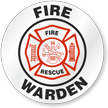 Fire Warden Fire Rescue Hard Hat Decals