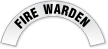 Fire Warden Reflective Hard Hat Decal