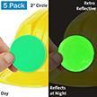 Fluorescent Green Retro Reflective Hard Hat Label