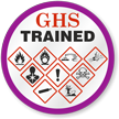 GHS Trained Hard Hat Decals