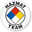 Hazmat Team Hard Hat Stickers