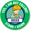 I Am Not Falling Choose Year Hard Hat Decals