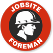 Jobsite Foreman Hard Hat Decals